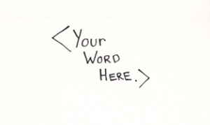 My 35 Words: Your Word Here