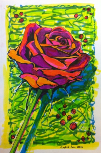 Sketch Diaries: Single Rose