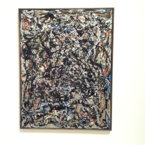 Jackson Pollock: Sea Change 1947. Seattle Art Museum, Artist and Commercial oil paint, with gravel, on canvas, American, 1912-1956, Gift of Signora Peggy Guggenheim